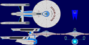 USS Federation Mk 2 Multi-View by captshade