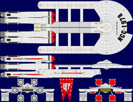 USS Galactica Multi-View by captshade