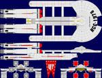 USS Galactica Multi-View