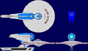 USS Kelvin TMP Multi-View by captshade