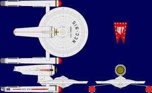 USS Ranger TOS Multi-View