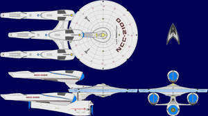 USS Federation AU Multi-View by captshade