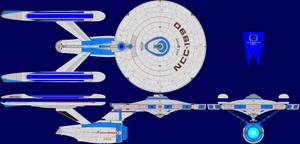 USS Galaxy TMP Multi-View