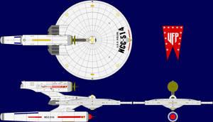 USS Kelvin Pre-TOS Multi-View by captshade