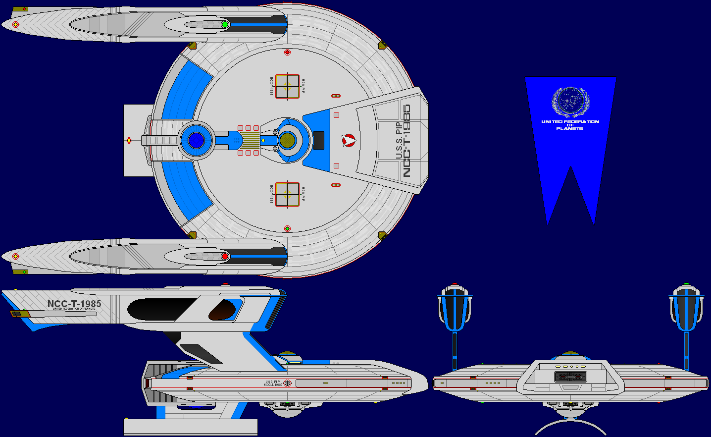USS Pip Multi-View by captshade