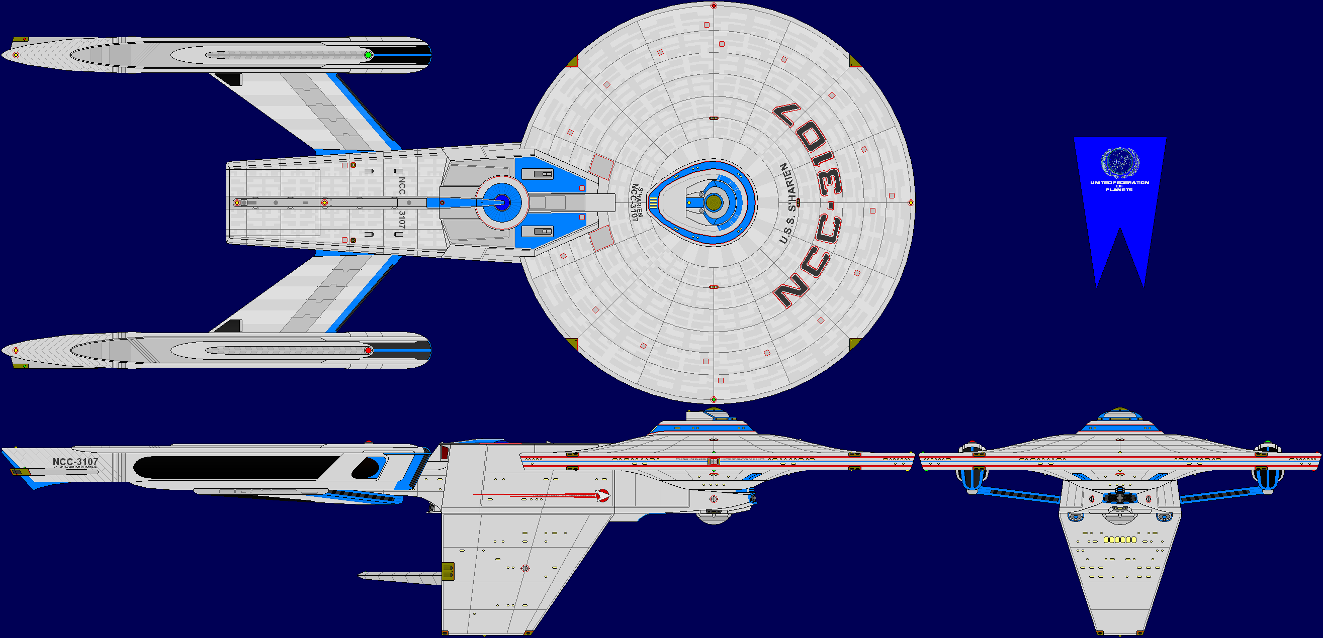 USS S'Harien Multi-View by captshade