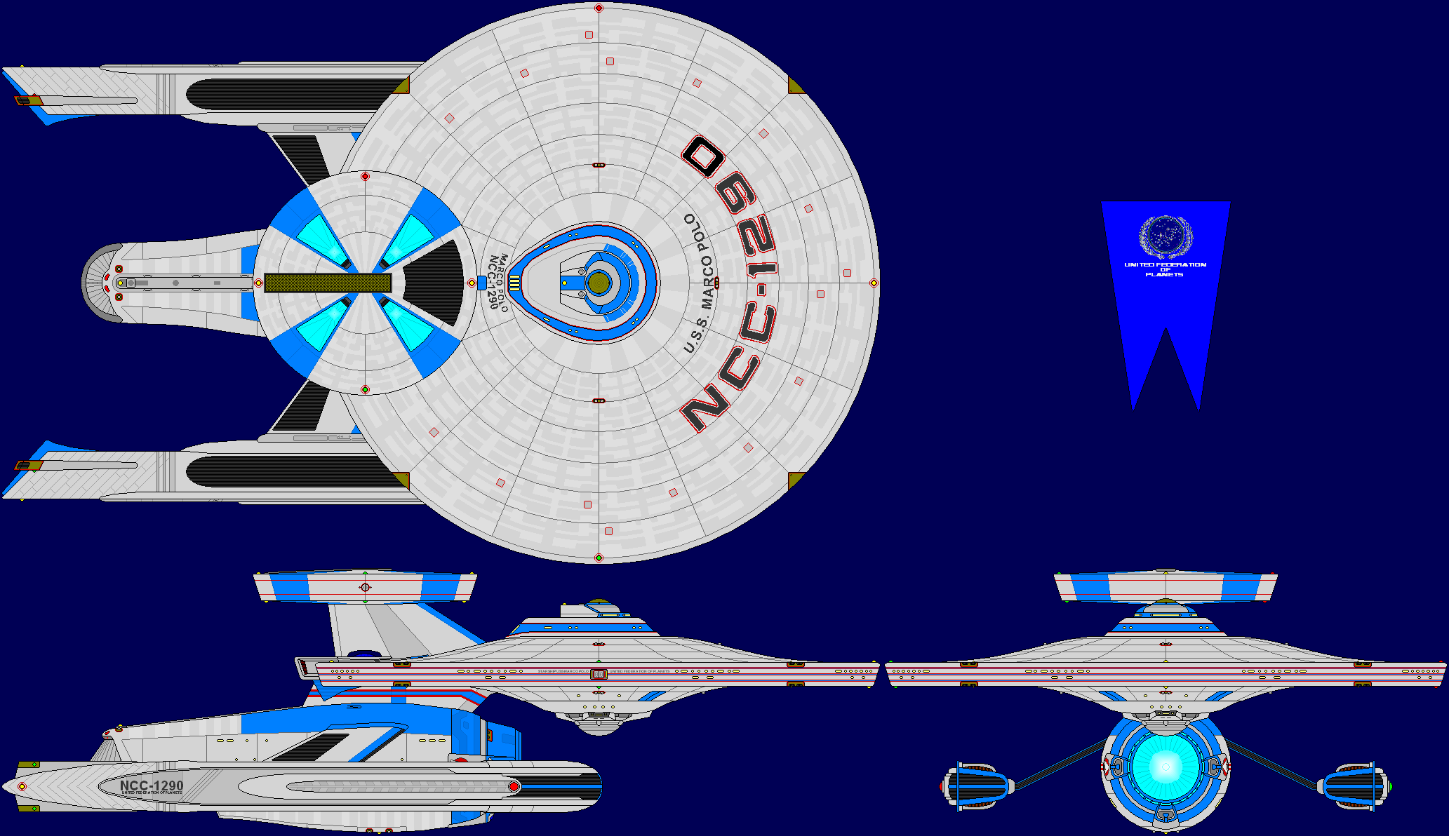 USS Marco Polo Refit Multi-View by captshade