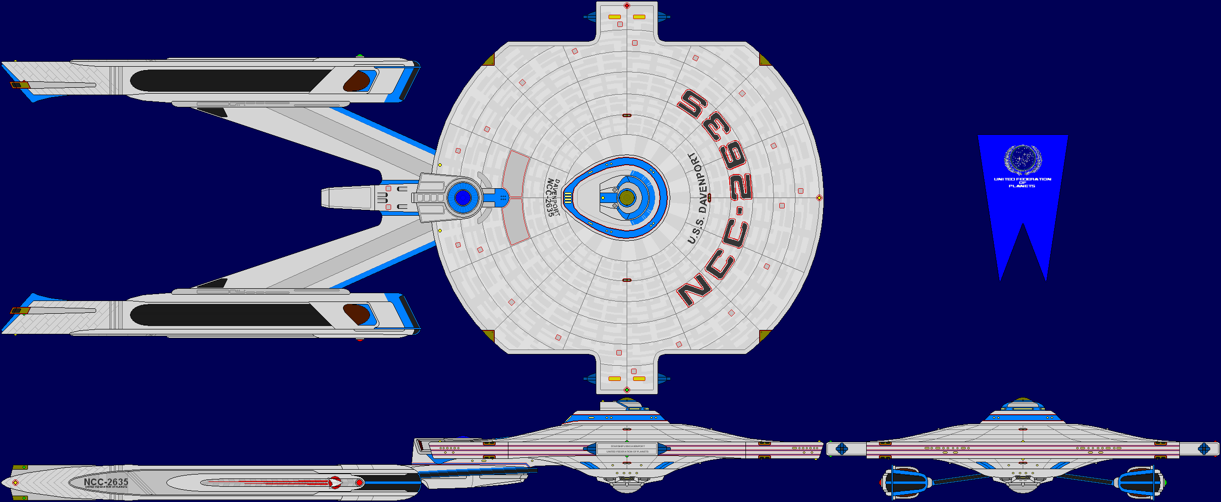 USS Davenport Multi-View by captshade