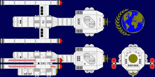 USS Europa Multi-View