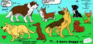 coloured doggies