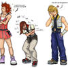 KH2: Switching Clothes +color+ by Kuko-chan