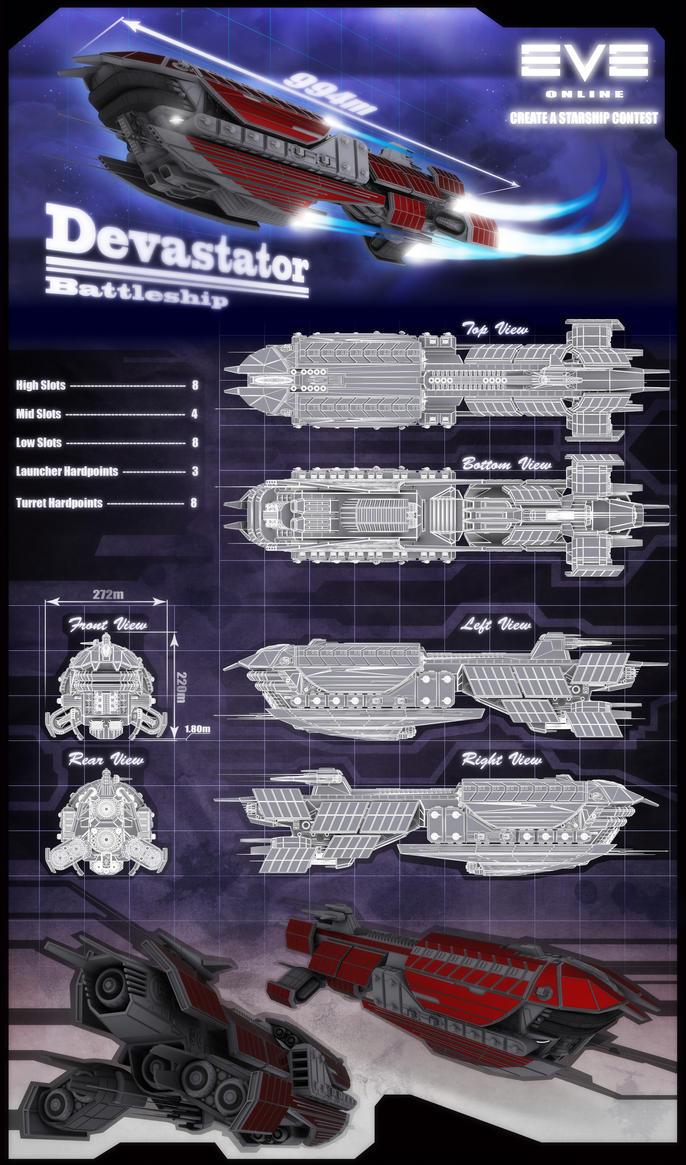 Devastator Battleship by Marnodor