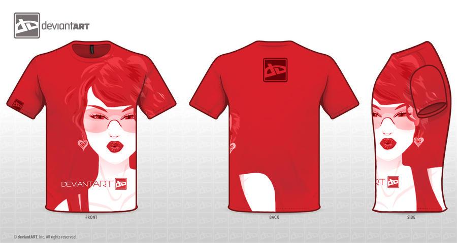 Red One Deviant T-Shirt by ctMunirah