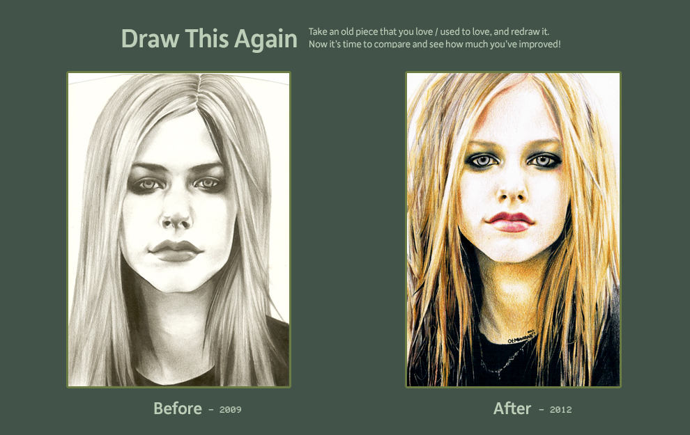 Draw this Again Challenge : Avril Lavigne II by ctMunirah