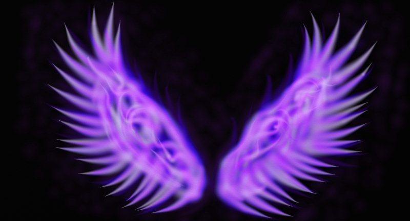Purple Fire Wings by ArrowWriter on DeviantArt