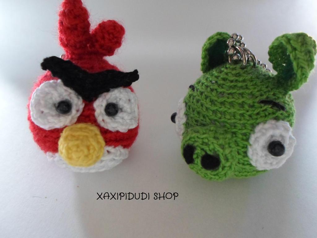 Cerdo Angry Birds Amigurumi : Llavero Amigurumi Angry Birds by Xaxipidudi on DeviantArt
