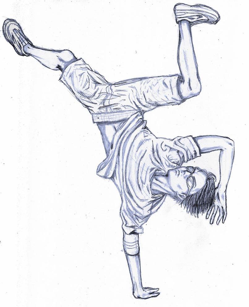 how to draw a hip hop dancer