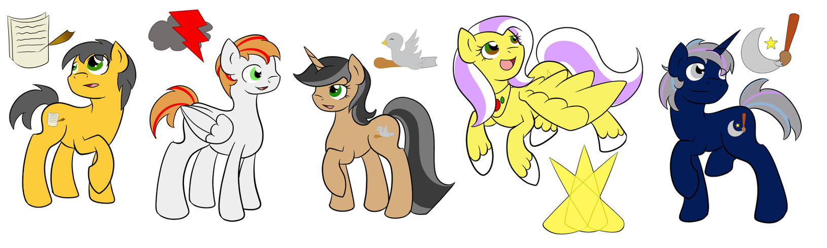 Character Line Up pt.4 by Fairiegirl101