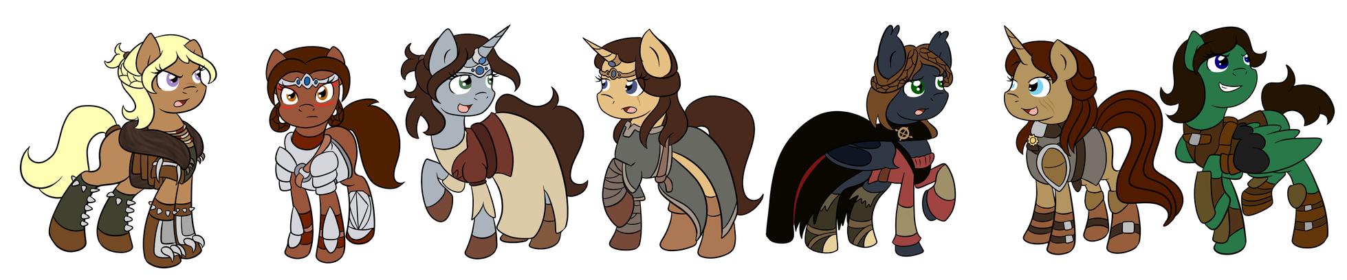 Skyrim Ponies by Fairiegirl101