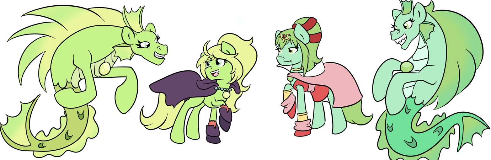 FE:A Ponies- Manaketes by Fairiegirl101