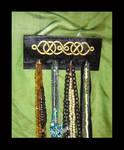 Knotwork jewelry hanger.