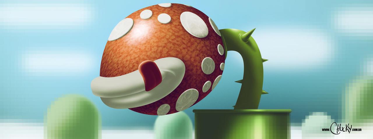 Super Mario world Flytrap by fubango