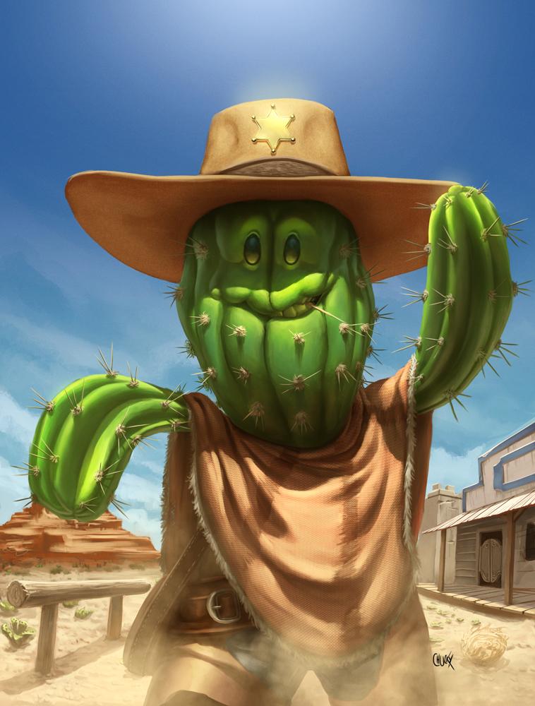 Cactus man - Recreio Magazine by fubango