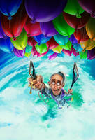 Flying Priest - Magazine cover by fubango