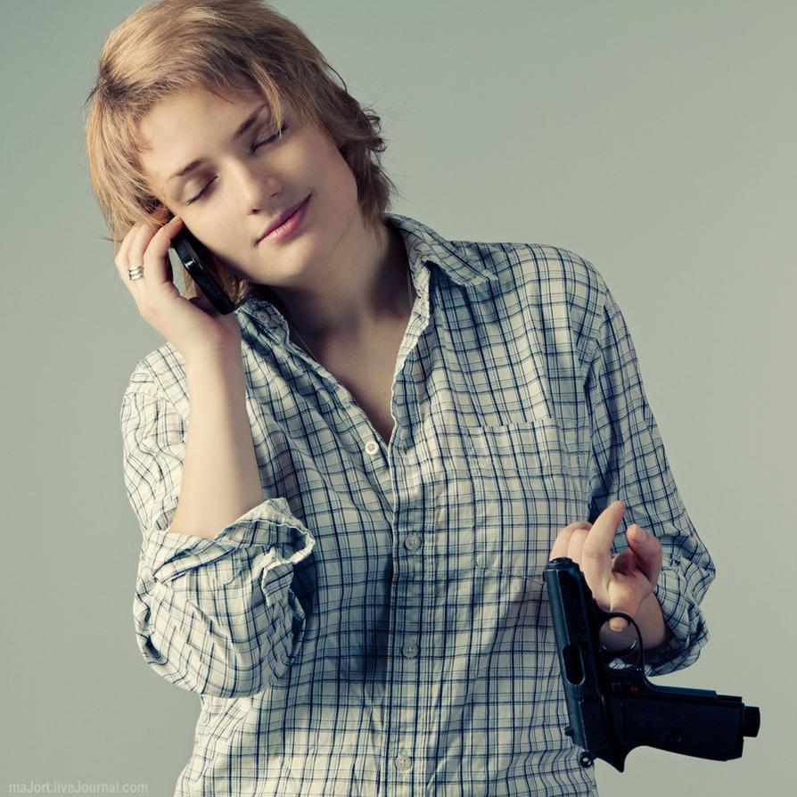 gun morning, girl by Tommy-Noker