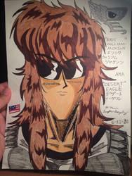 Desert Eagle close up portrait