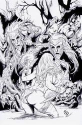 Jungle Girl: Cover 3 INKS by boysicat