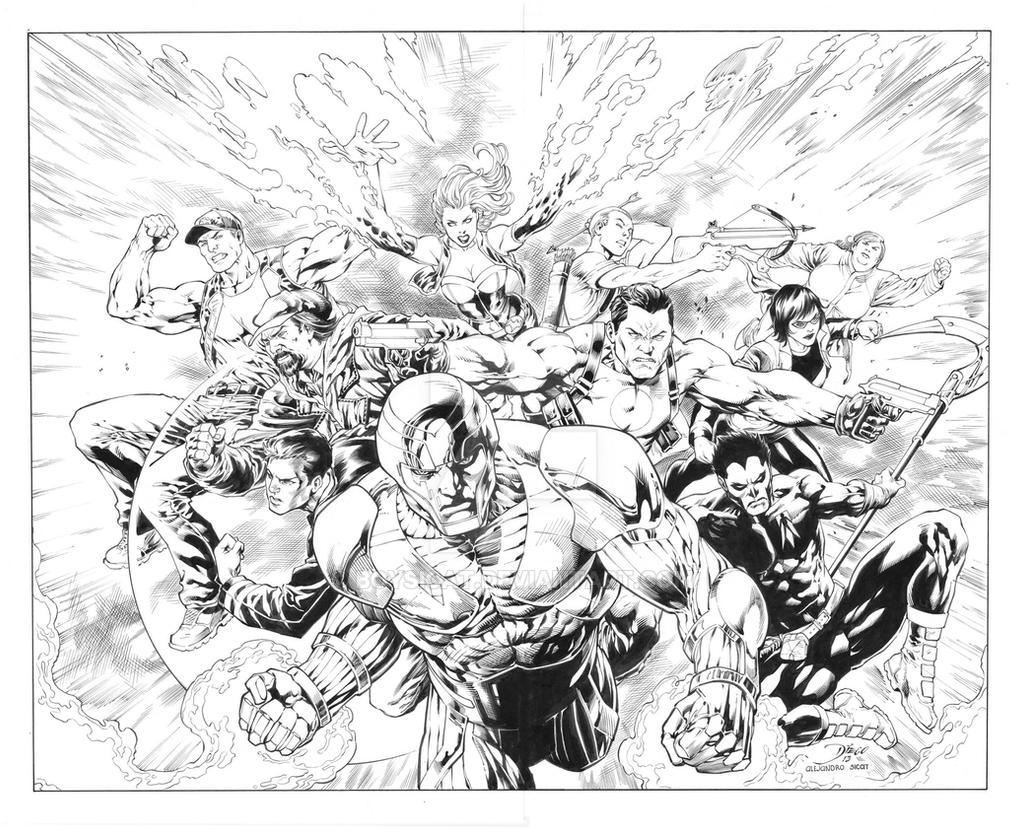 Diego Benard: Valiant Universe Promo Page by boysicat