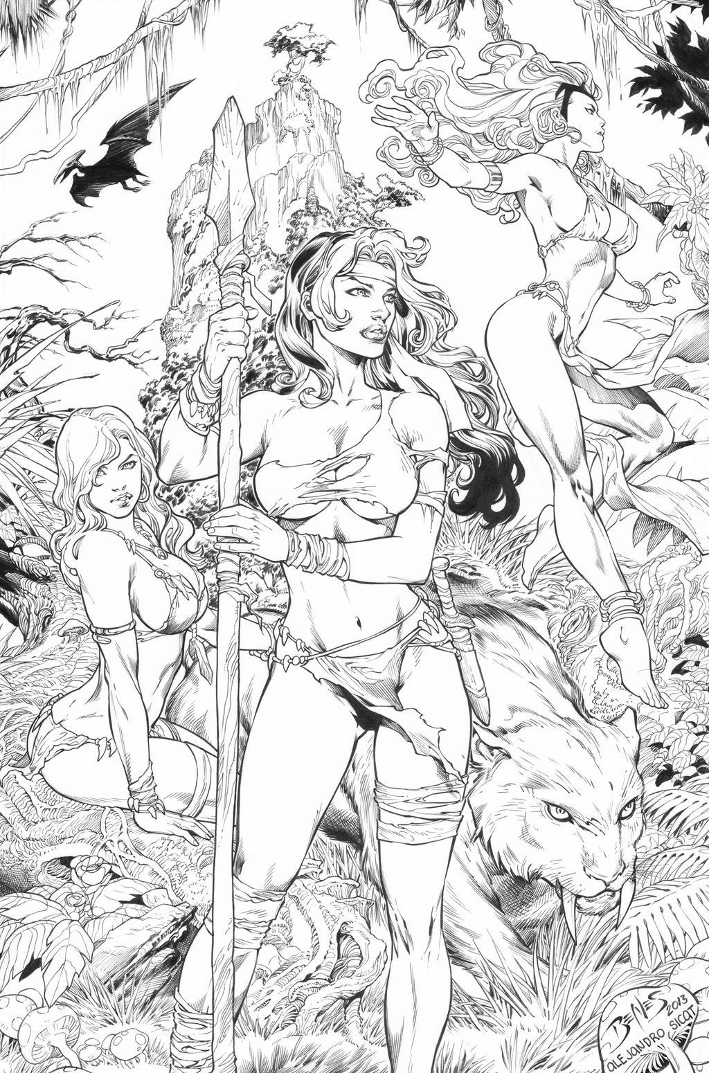 Ed Benes: X-Men Ladies by boysicat