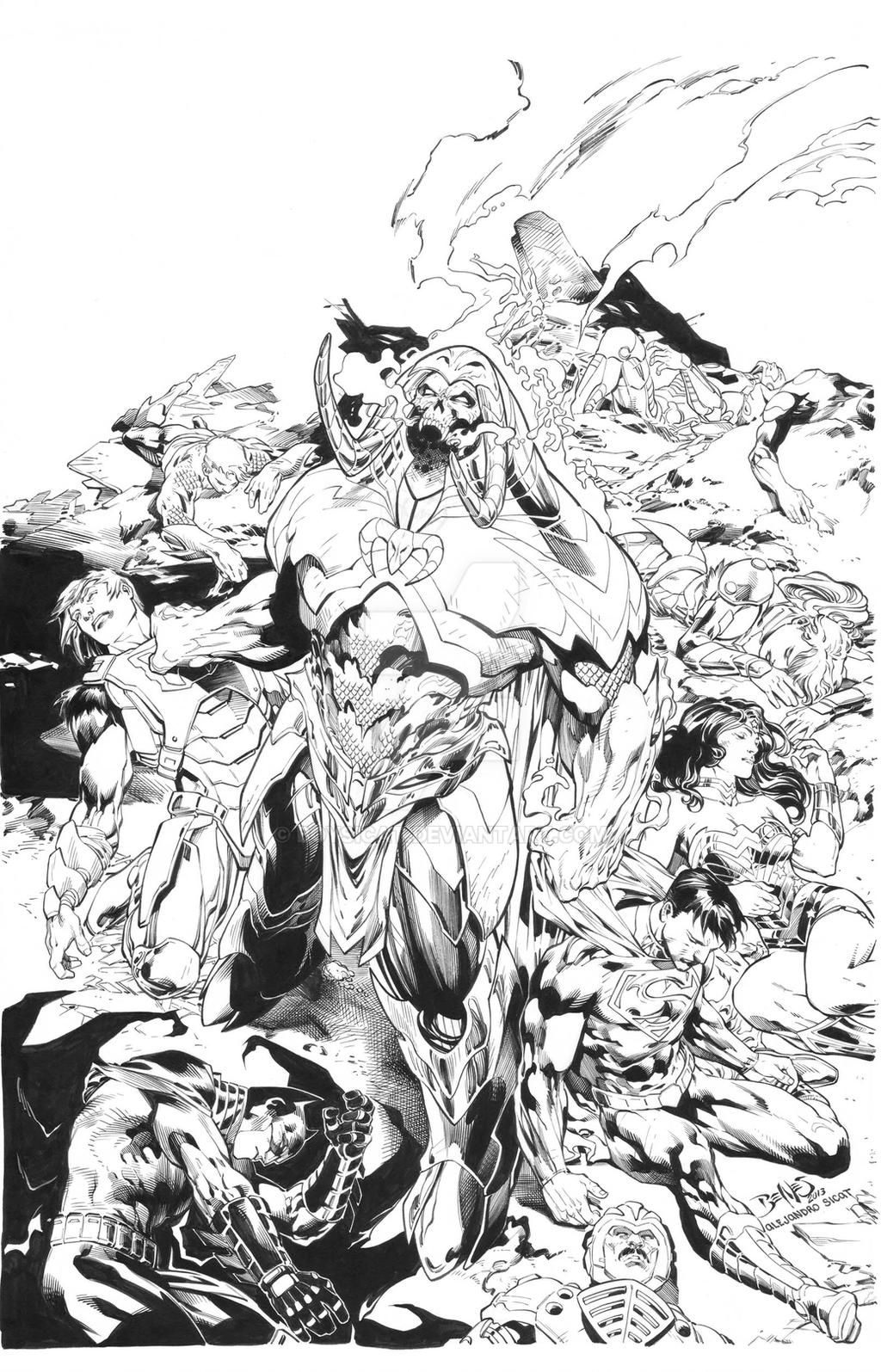 DCU vs Master of the Universe #2 Cover: Ed Benes by boysicat
