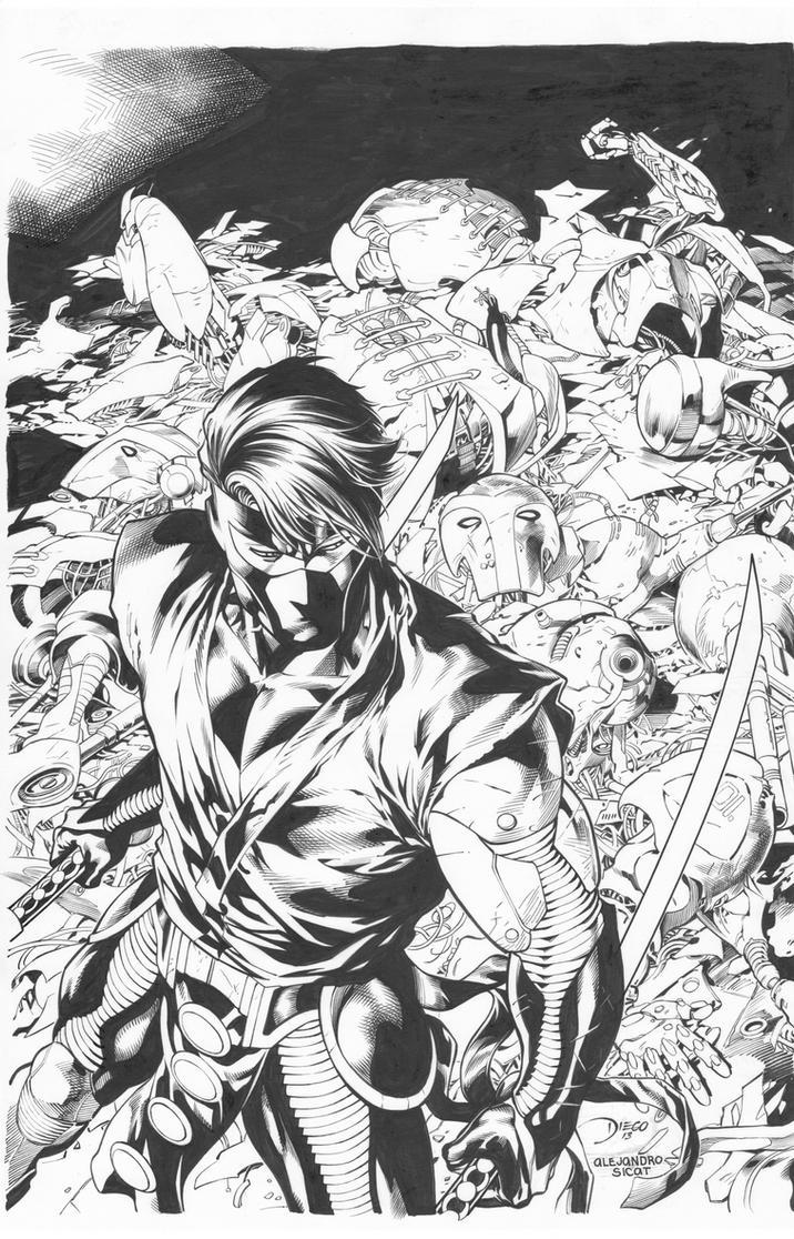 Ninjak Unity Cover: Diego Bernard by boysicat