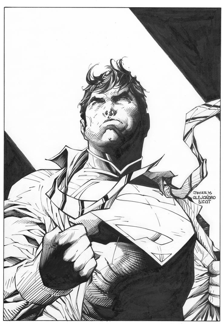 Jim Lee: Superman Wondercon by boysicat