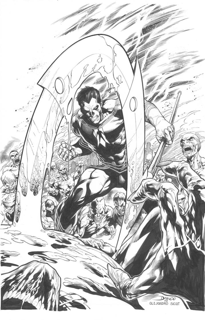 Shadowman Cover: Diego Bernard by boysicat