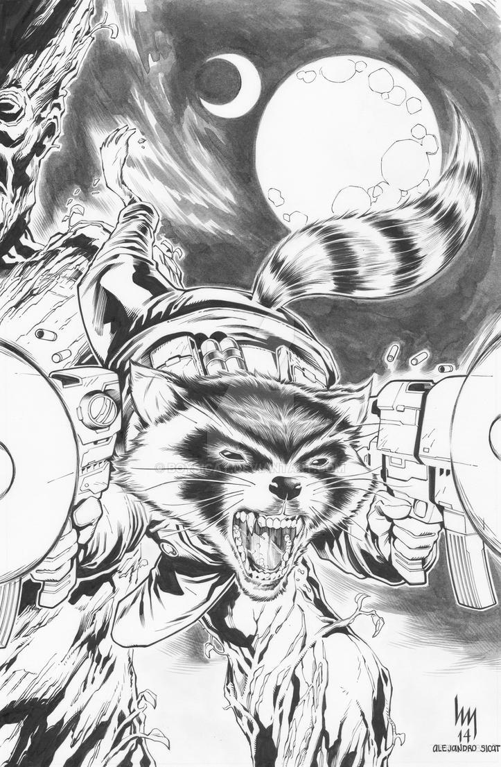 Rocket Raccoon: Hubert Michael khan by boysicat