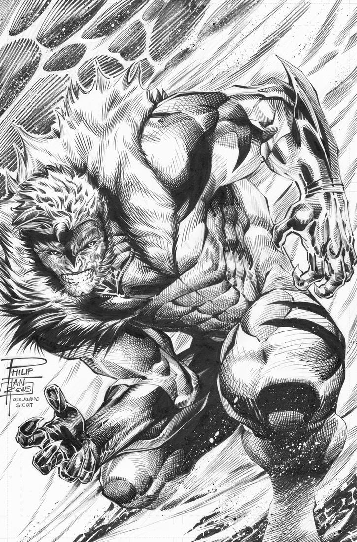 Philip Tan: Sabretooth INKS by boysicat