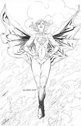 Supergirl with Fire