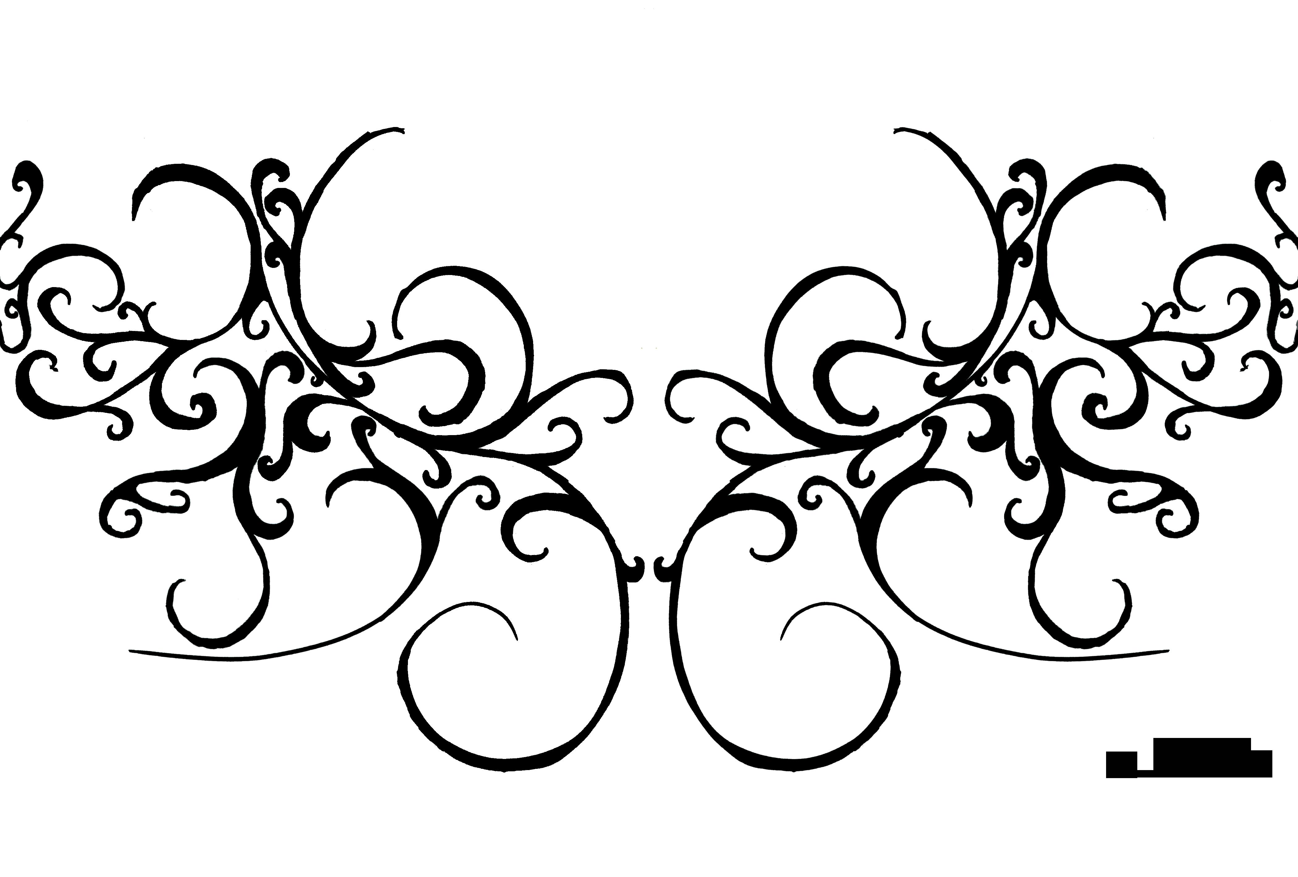 Swirl Line Design Clipart : Old swirl six double wings by misosoup on deviantart