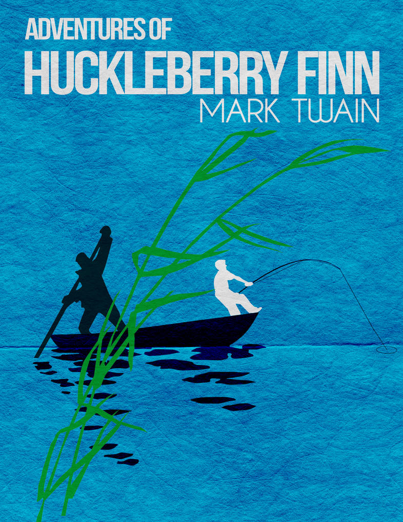 Minimalist Book Cover Posters : Minimalist book poster huckleberry finn by seanelynn on