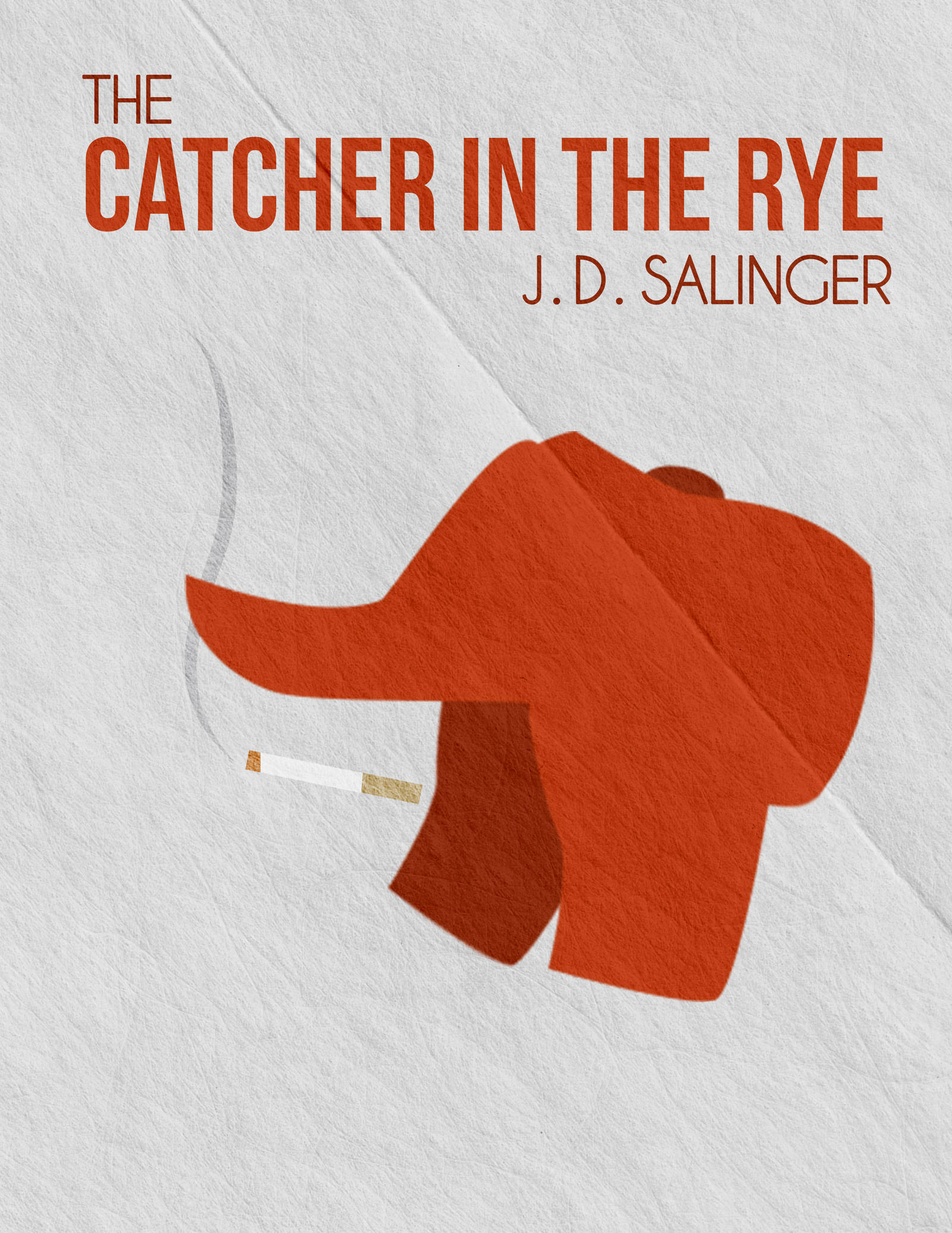Minimalist Book Cover Quote : Minimalist book poster catcher in the rye by seanelynn on