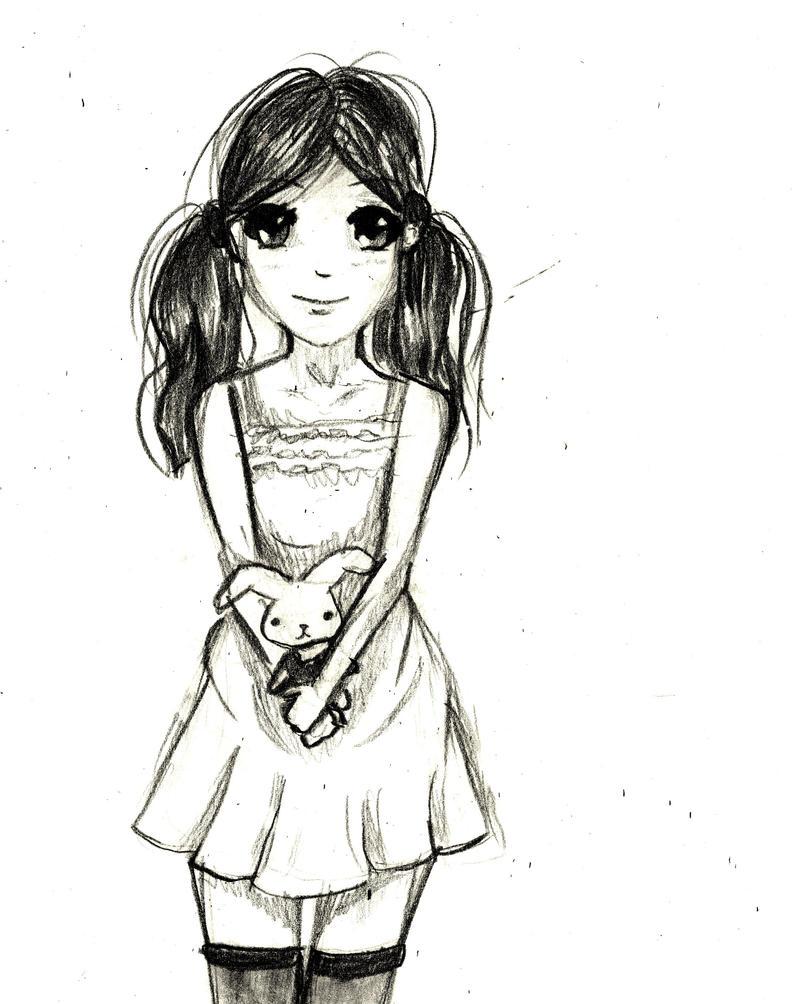 Sketch Of A Little Girl By AshitaNoNagisa On DeviantArt