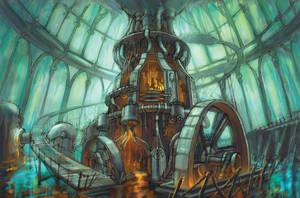 Steam engine by Cliffhangar