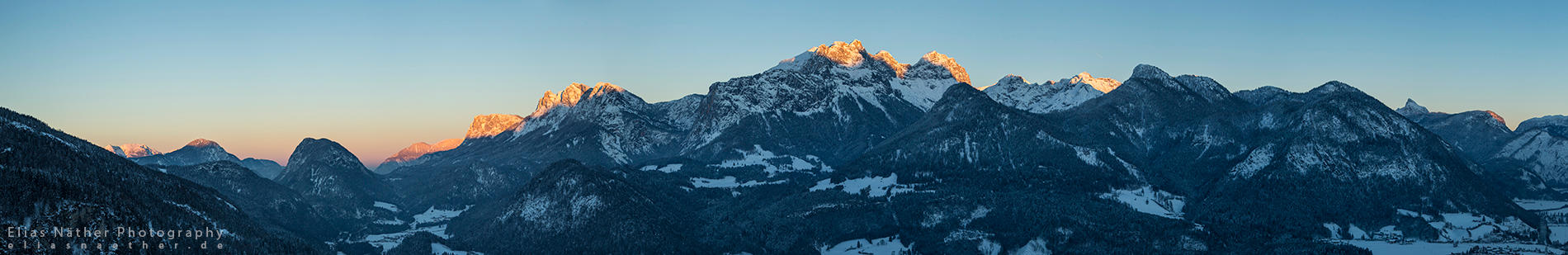 Good Night Alps Panorama