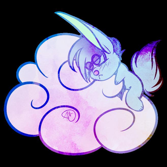 Chibi Cloud Hug In Pastels by Renee0729