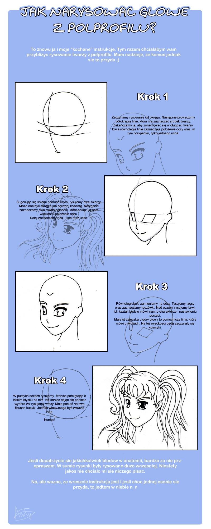 Jak rysowac glowe z polprofilu by Aiwlys