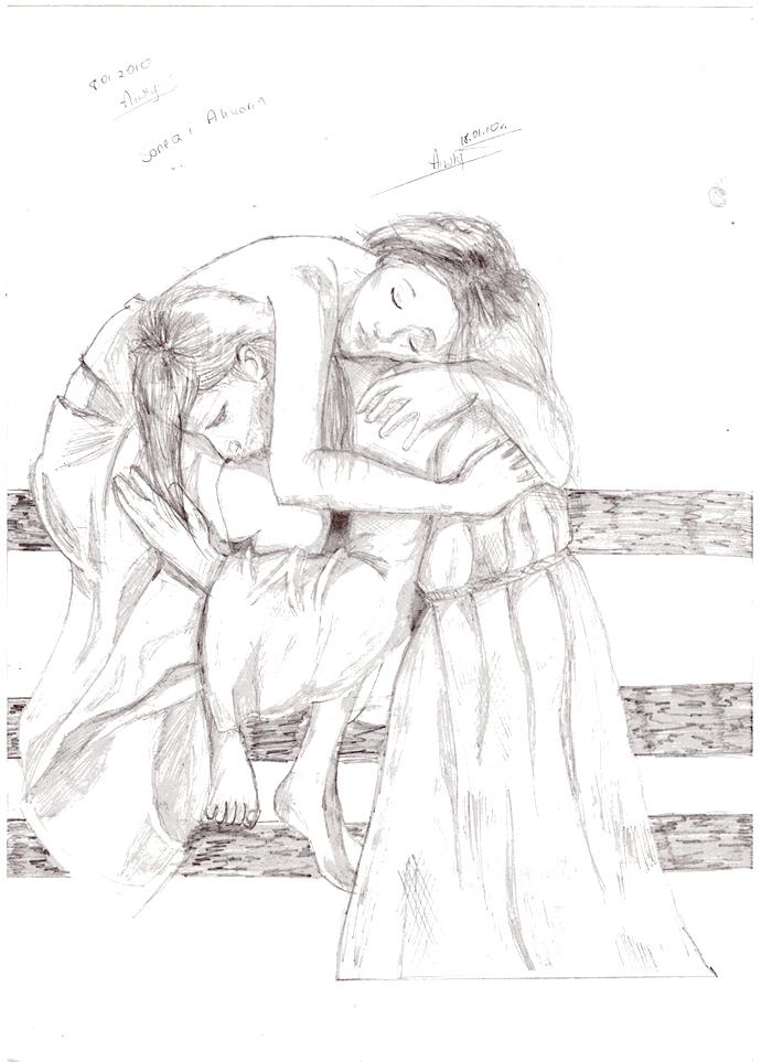 Sonea and Akkarin by Aiwlys