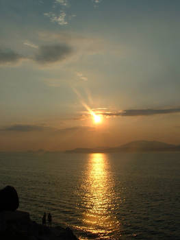 sunset at Hydra